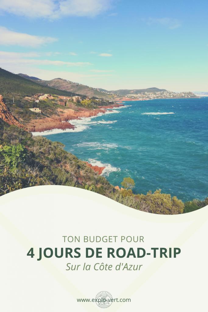 4 jours de road-trip sur la Côte d'Azur - itinéraire et budget - Pinterest