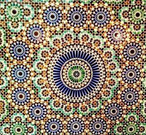 mosaique, Grande Mosquée de Paris